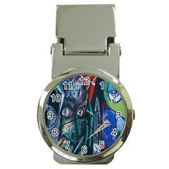 Graffiti Art Urban Design Paint Money Clip Watches