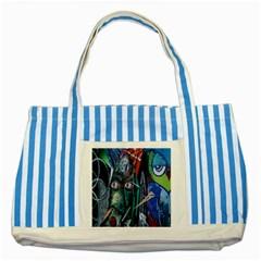 Graffiti Art Urban Design Paint Striped Blue Tote Bag