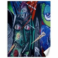 Graffiti Art Urban Design Paint Canvas 12  x 16