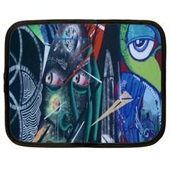 Graffiti Art Urban Design Paint Netbook Case (XXL)