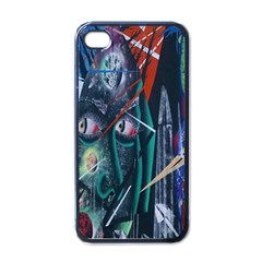 Graffiti Art Urban Design Paint Apple iPhone 4 Case (Black)