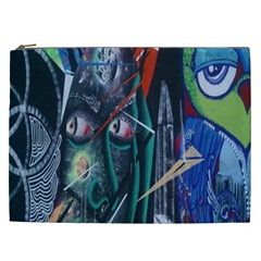 Graffiti Art Urban Design Paint Cosmetic Bag (xxl)