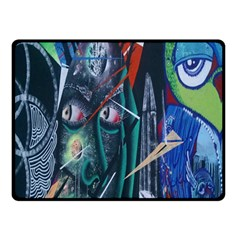 Graffiti Art Urban Design Paint Double Sided Fleece Blanket (Small)