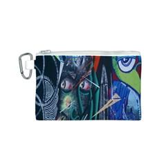 Graffiti Art Urban Design Paint Canvas Cosmetic Bag (S)