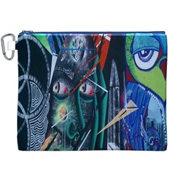 Graffiti Art Urban Design Paint Canvas Cosmetic Bag (XXXL)