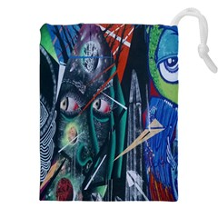 Graffiti Art Urban Design Paint Drawstring Pouches (XXL)