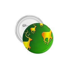 Gold Reindeer 1.75  Buttons