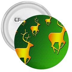 Gold Reindeer 3  Buttons