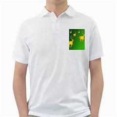 Gold Reindeer Golf Shirts