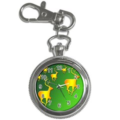 Gold Reindeer Key Chain Watches