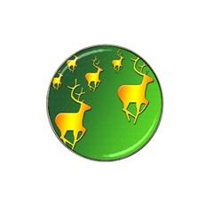 Gold Reindeer Hat Clip Ball Marker