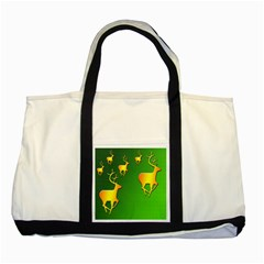 Gold Reindeer Two Tone Tote Bag