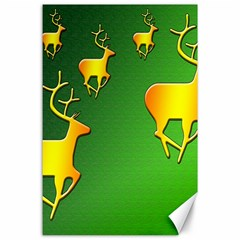 Gold Reindeer Canvas 24  X 36