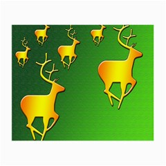 Gold Reindeer Small Glasses Cloth (2-Side)