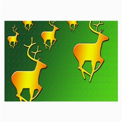 Gold Reindeer Large Glasses Cloth (2-Side)