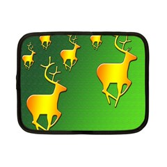 Gold Reindeer Netbook Case (Small)
