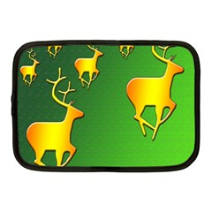 Gold Reindeer Netbook Case (Medium)
