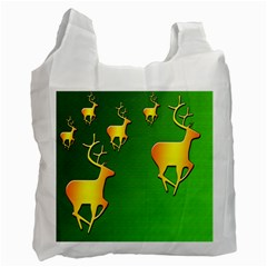 Gold Reindeer Recycle Bag (One Side)