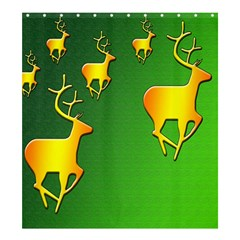Gold Reindeer Shower Curtain 66  X 72  (large)