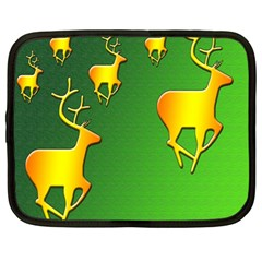 Gold Reindeer Netbook Case (XL)