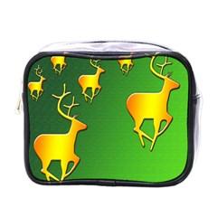 Gold Reindeer Mini Toiletries Bags