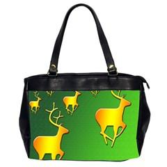 Gold Reindeer Office Handbags (2 Sides)