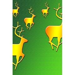 Gold Reindeer 5.5  x 8.5  Notebooks