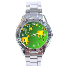 Gold Reindeer Stainless Steel Analogue Watch