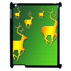 Gold Reindeer Apple iPad 2 Case (Black)