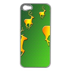 Gold Reindeer Apple Iphone 5 Case (silver)