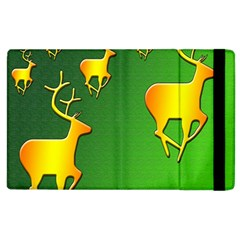 Gold Reindeer Apple Ipad 2 Flip Case
