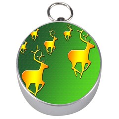 Gold Reindeer Silver Compasses