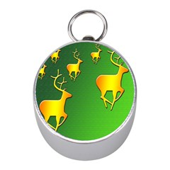 Gold Reindeer Mini Silver Compasses