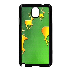 Gold Reindeer Samsung Galaxy Note 3 Neo Hardshell Case (Black)