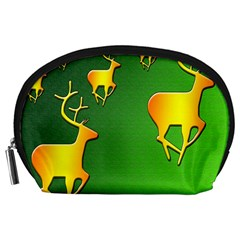 Gold Reindeer Accessory Pouches (large)