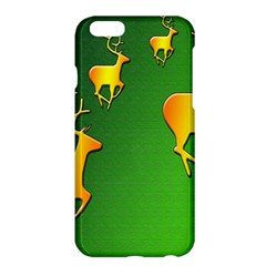 Gold Reindeer Apple iPhone 6 Plus/6S Plus Hardshell Case
