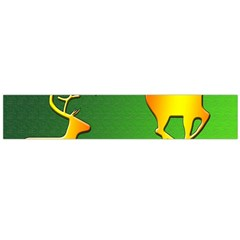 Gold Reindeer Flano Scarf (Large)