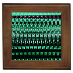 Green Triangle Patterns Framed Tiles