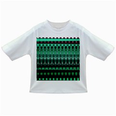 Green Triangle Patterns Infant/Toddler T-Shirts
