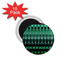 Green Triangle Patterns 1.75  Magnets (10 pack)
