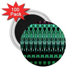 Green Triangle Patterns 2 25  Magnets (100 Pack)