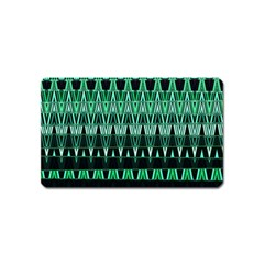 Green Triangle Patterns Magnet (Name Card)
