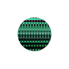 Green Triangle Patterns Golf Ball Marker (10 pack)