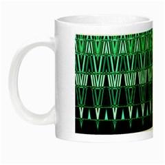 Green Triangle Patterns Night Luminous Mugs
