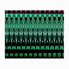 Green Triangle Patterns Small Glasses Cloth