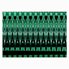 Green Triangle Patterns Large Glasses Cloth (2-Side)