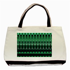 Green Triangle Patterns Basic Tote Bag (Two Sides)