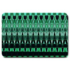 Green Triangle Patterns Large Doormat