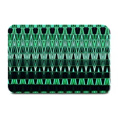 Green Triangle Patterns Plate Mats