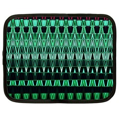 Green Triangle Patterns Netbook Case (Large)